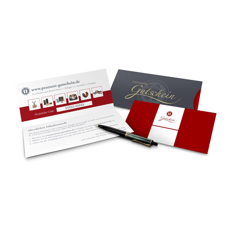 Geschenkgutschein Rot, große Auswahl an Präsenten, Lifestyle- und Wellnessprodukten, Kategorie 10 €