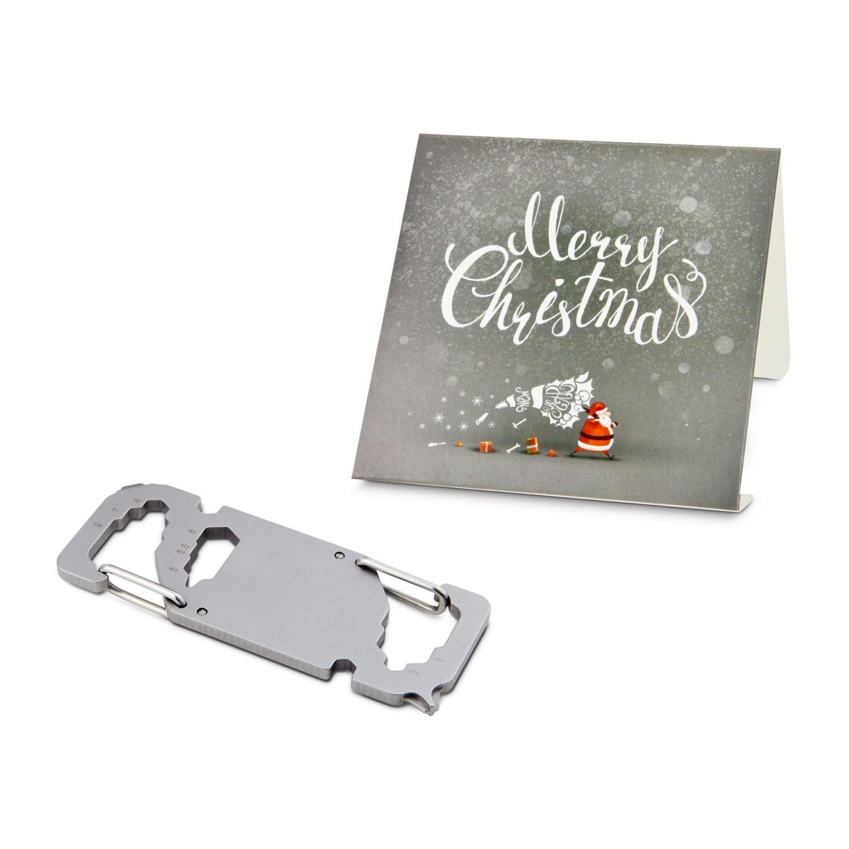 Geschenkartikel / Präsentartikel: ROMINOX® Key Tool Link (20 Funktionen) im Motiv-Mäppchen Merry Christmas