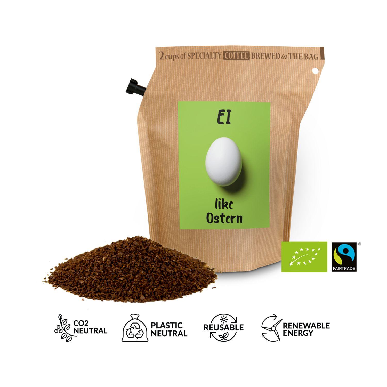 Geschenkartikel / Präsentartikel: Bio-Oster-Kaffee - Ei like Ostern