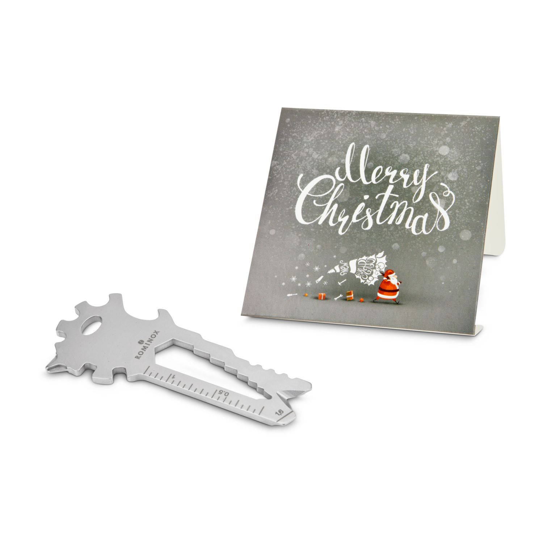 Geschenkartikel / Präsentartikel: ROMINOX® Key Tool Lion (22 Funktionen) im Motiv-Mäppchen Merry Christmas