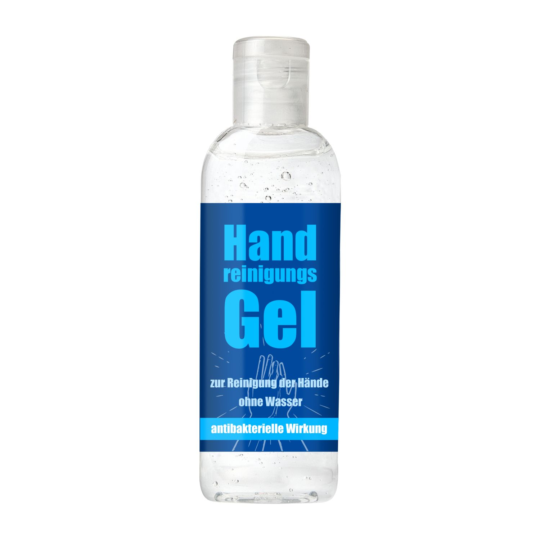 100 ml Handreinigungsgel mit 70 % Ethanol für die hygienische Reinigung ohne Wasser, antibakterielle Wirkung