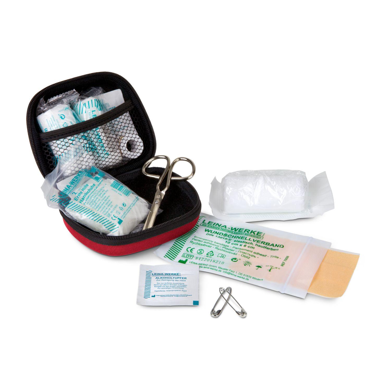 First Aid Kit rot - Erste Hilfe Set, 12-teilig, deutsche Markenware