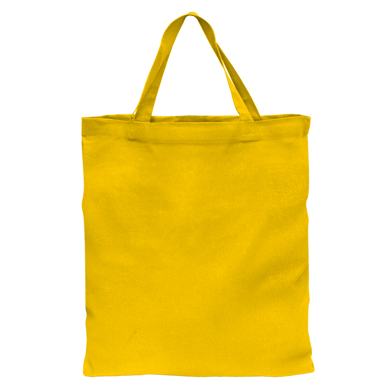 NIEDERLAUSITZ - Baumwolltasche mit 2 kurzen Henkeln - gelb (P 143 C) - 38 cm x 42 cm