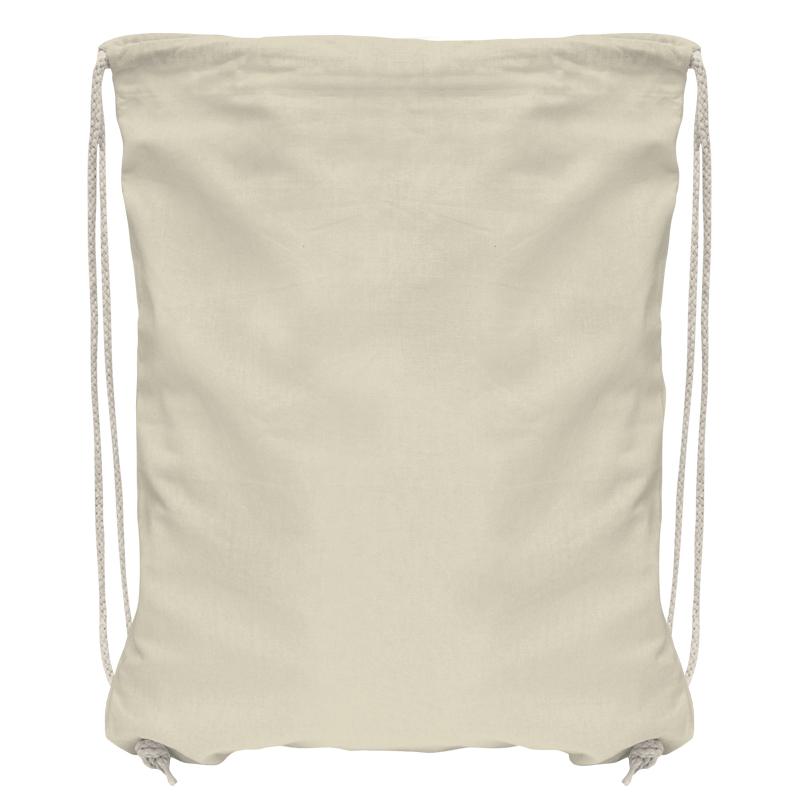 Baumwollrucksack mit robuster Kordel - natur - 36 cm x 44 cm