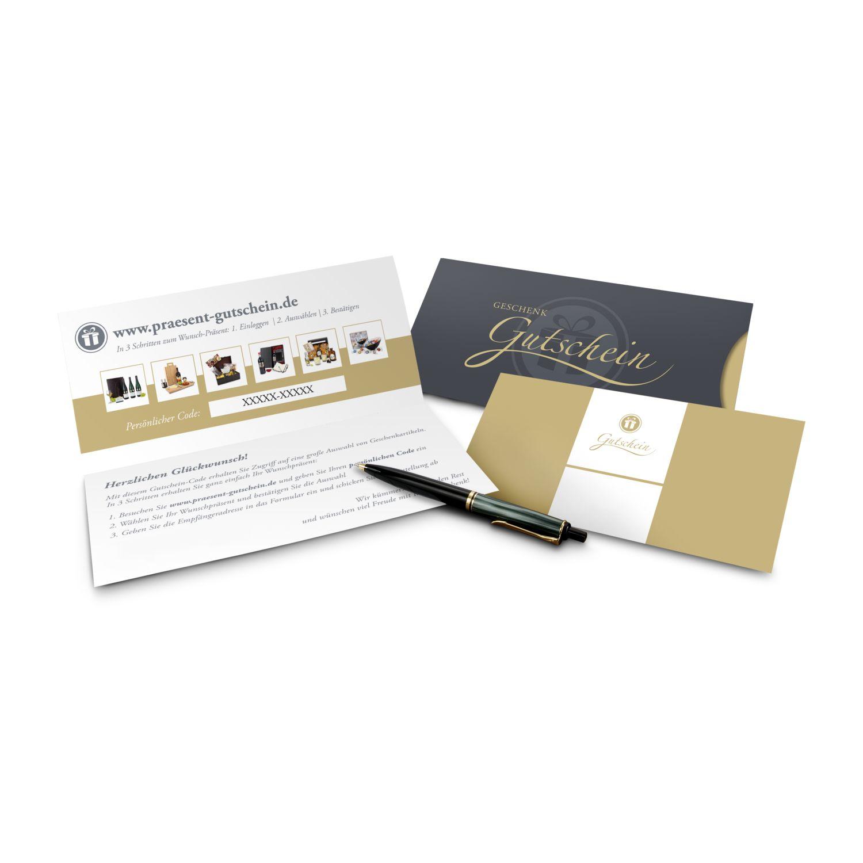 Geschenkgutschein Gold, große Auswahl an Präsenten, Lifestyle- und Wellnessprodukten, Kategorie 35 €