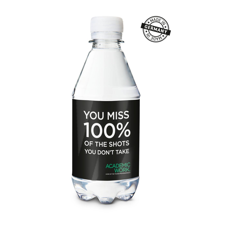 330 ml PromoWater - Mineralwasser mit Kohlensäure, Hergestellt in Deutschland