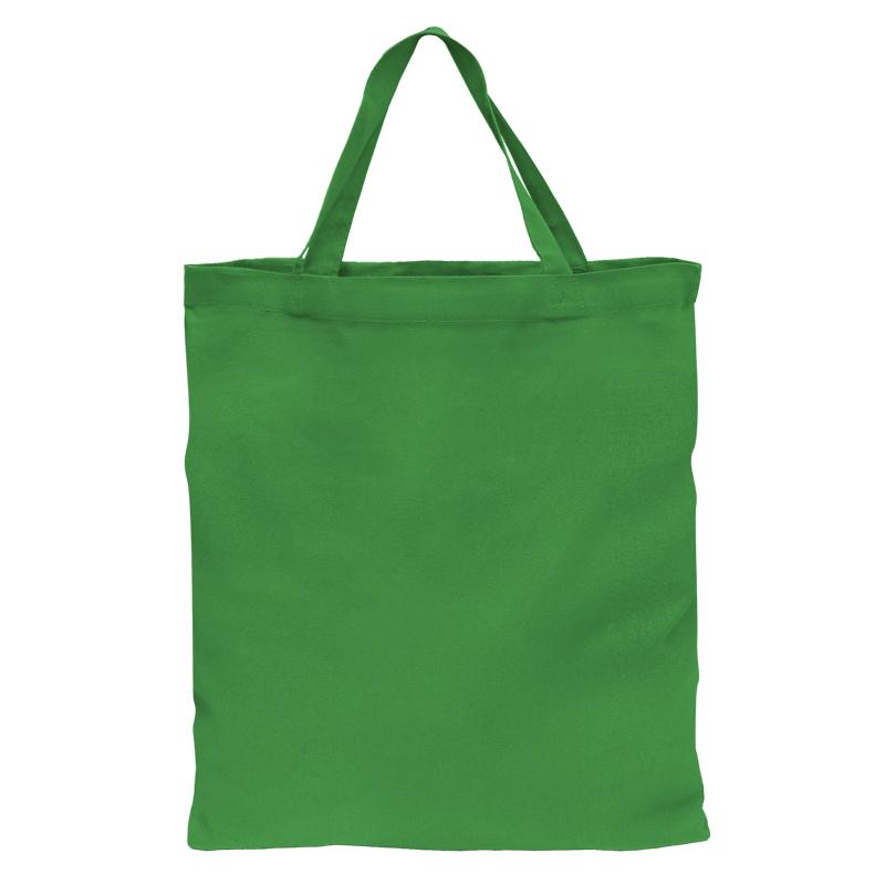 NIEDERLAUSITZ - Baumwolltasche mit 2 kurzen Henkeln - grün (HKS 54 K) - 38 cm x 42 cm