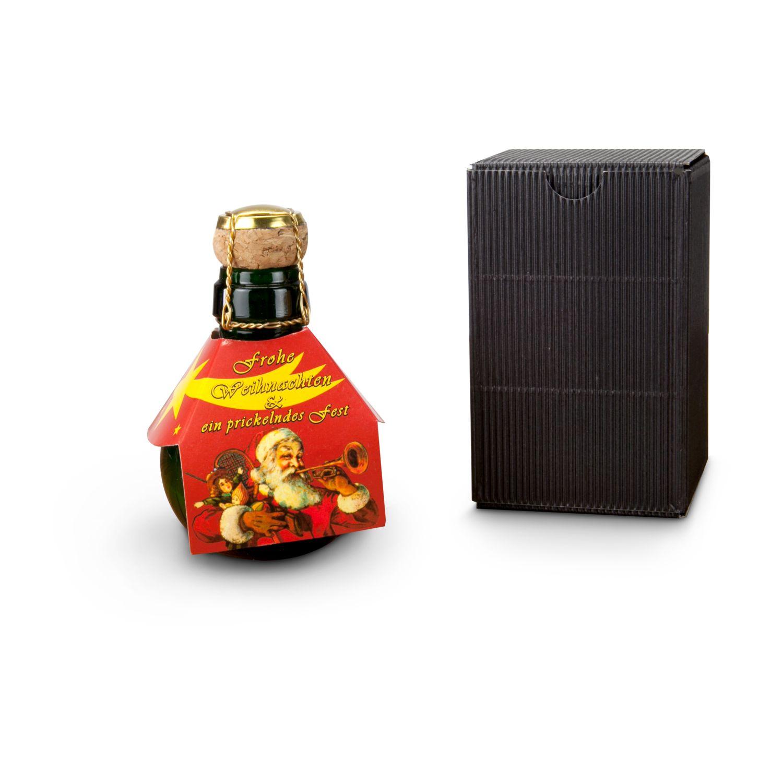 Geschenkartikel / Präsentartikel: Kleinste Sektflasche: Weihnachtsgruß