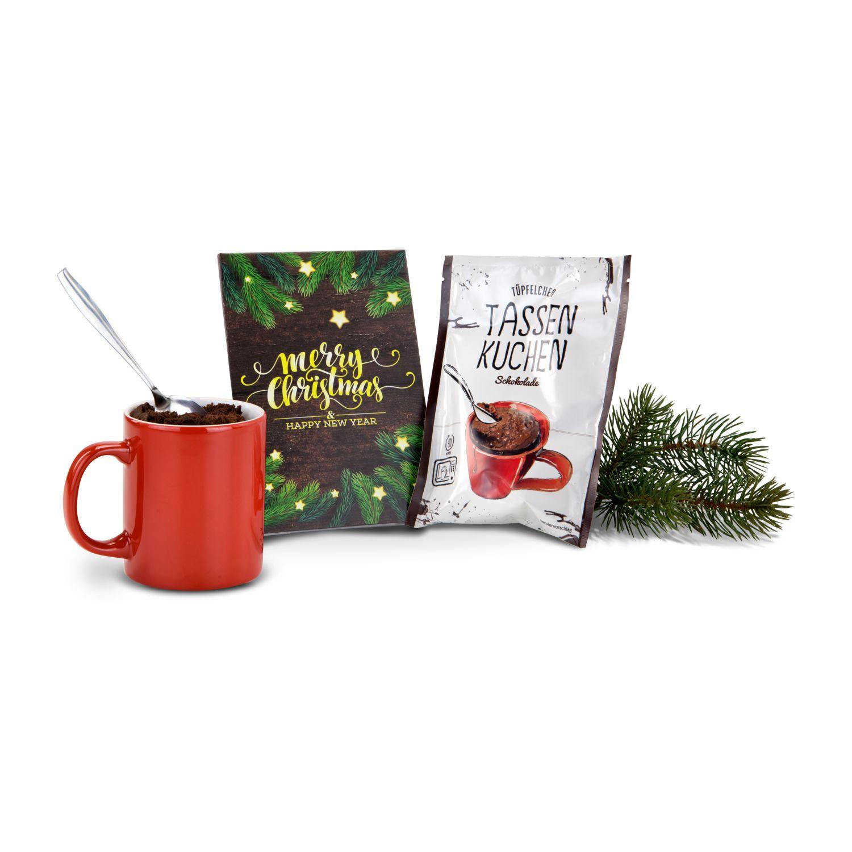 Geschenkartikel / Präsentartikel: Merry Christmas Tassenkuchen
