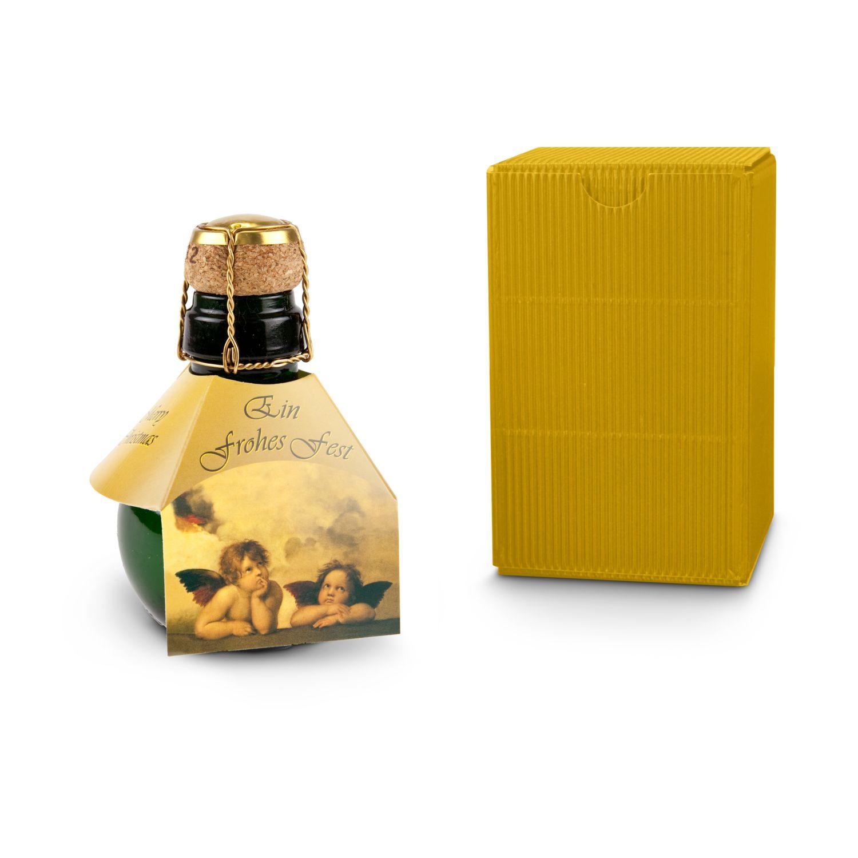 Geschenkartikel / Präsentartikel: Kleinste Sektflasche: Weihnachts-Raffael